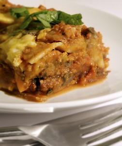 Vegan Lasagna with Pumpkin Bechamel Sauce