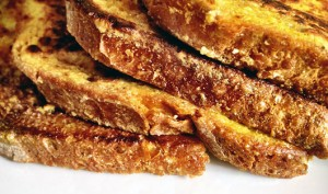Savory French Toast - a besan toast style breakfast
