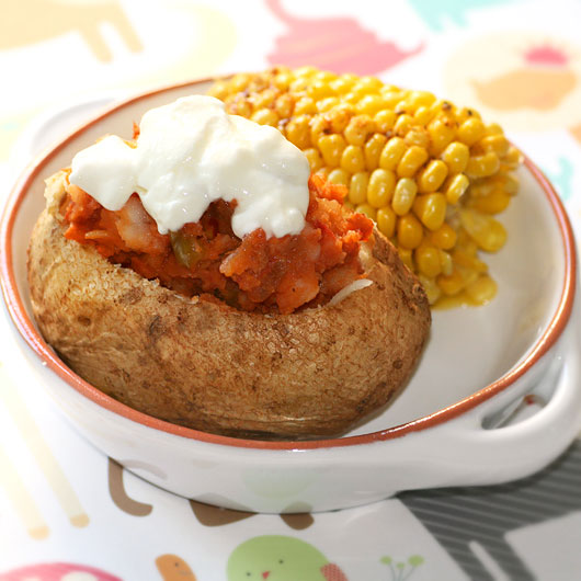 Chilli Stuffed Baked Potato