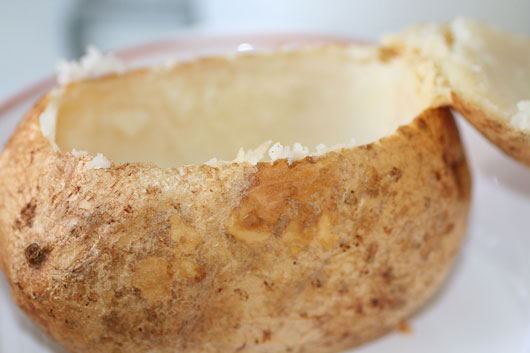 Emptied Out Baked Potato