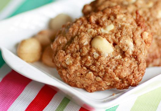 Cashew and Macadamia White Chip Cookies