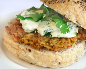 Curried Red Lentil Burgers