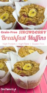 Grain-free Strawberry Breakfast Muffins