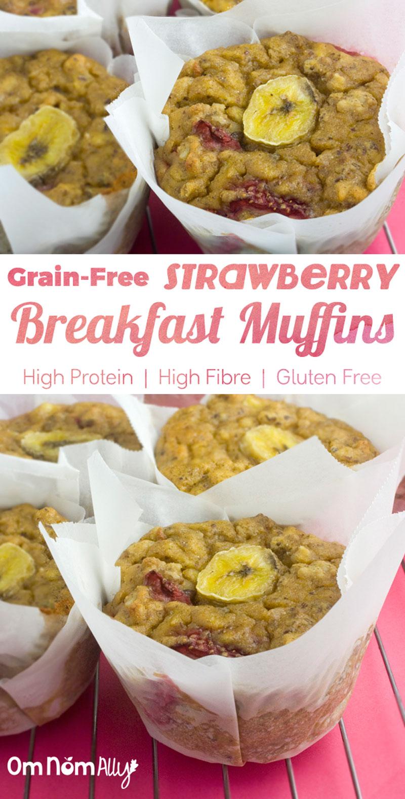 Grain-free Strawberry Breakfast Muffins