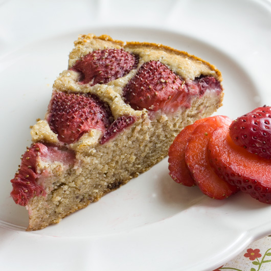 Rustic Fresh Strawberry Cake