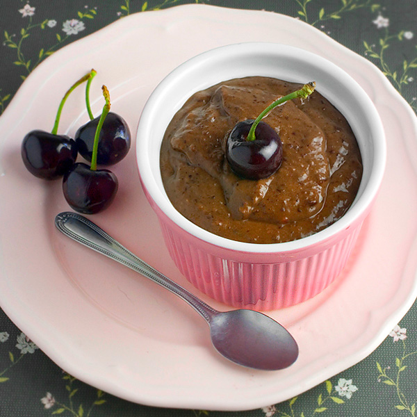 Raw Choc Cherry Pudding