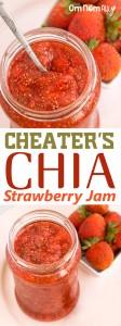 Cheater's Chia Strawberry Jam @OmNomAlly