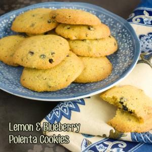 Om Nom Ally - Lemon & Blueberry Polenta Cookies