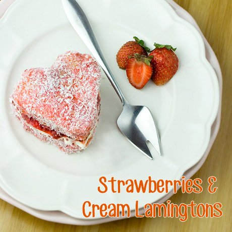 Om Nom Ally - Strawberries & Cream Lamingtons
