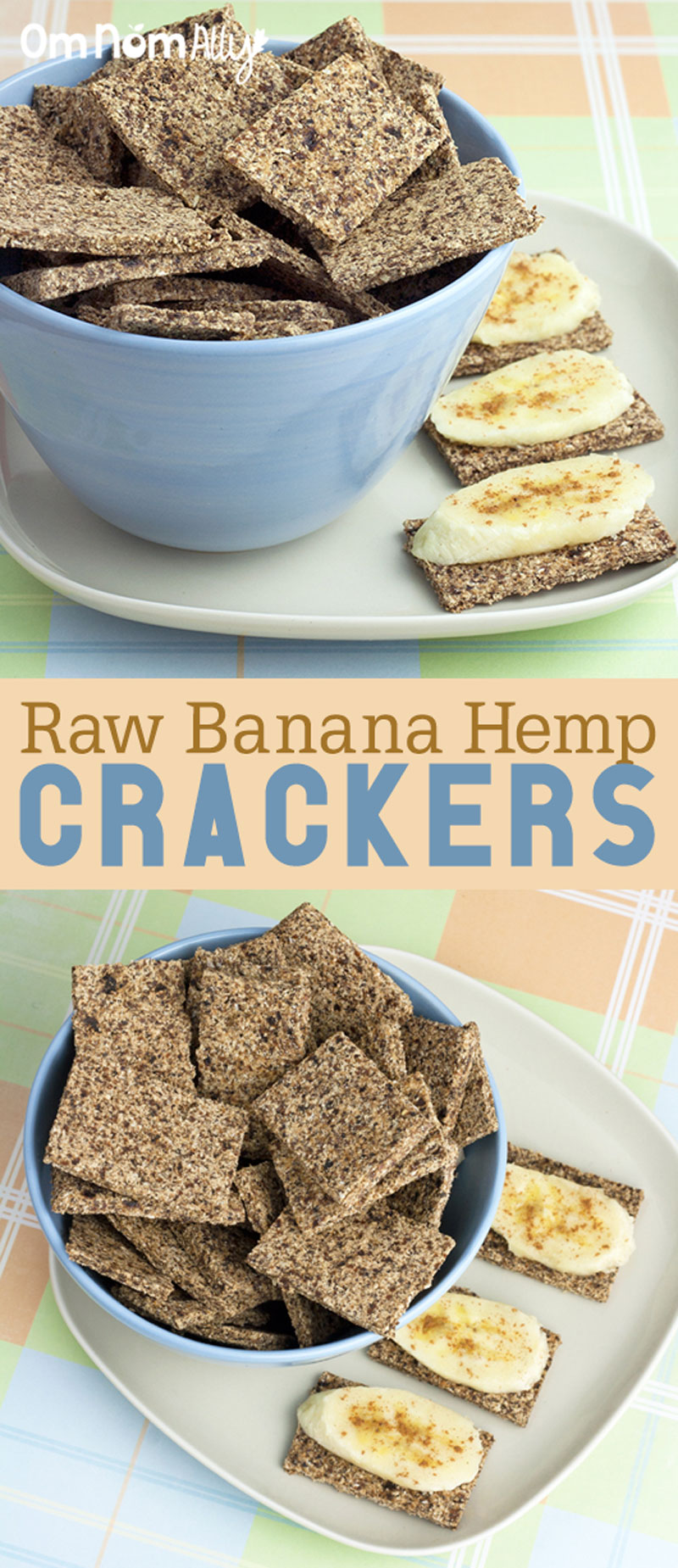 Raw Banana Hemp Crackers @OmNomAlly