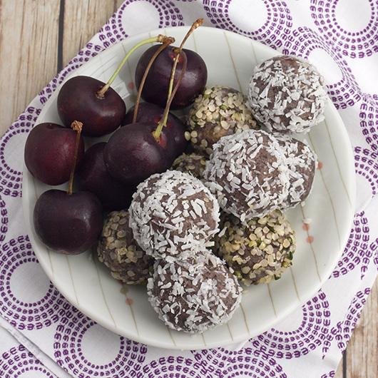 Om Nom Ally - Fudgy Cherry Date Truffles