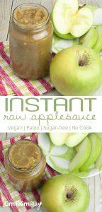 Instant Raw Applesauce @OmNomAlly - Vegan | Paleo | Sugar-free | No Cook!