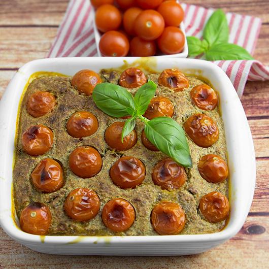 Grain-free Cherry Tomato Clafoutis   @OmNomAlly