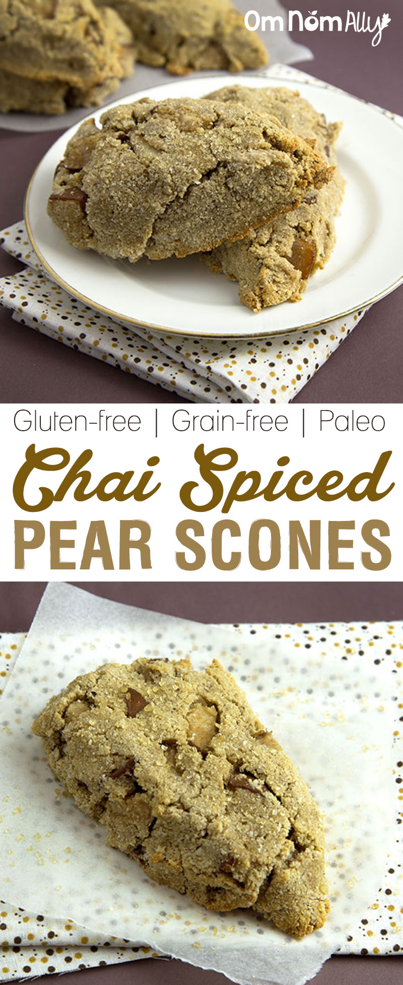 Grain-Free & Paleo Chai Spiced Pear Scones