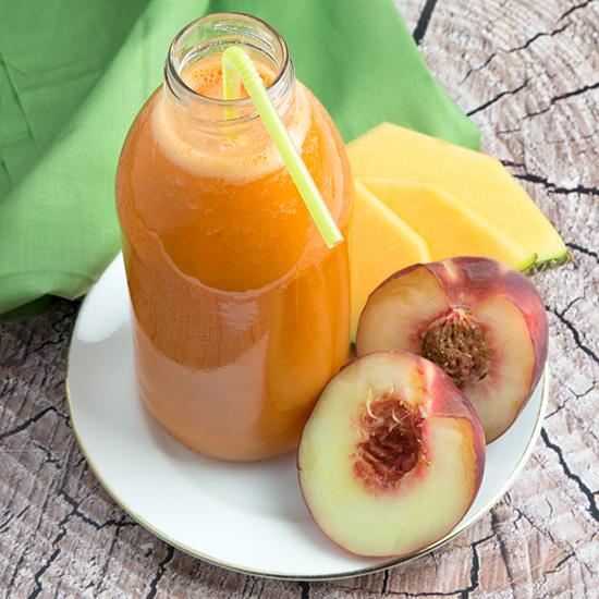 Peach & Canteloupe Juice | Om Nom Ally