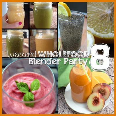 Weekend Wholefood Blender Party (8) + Peach &  Cantaloupe Juice