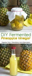 DIY Fermented Pineappl Vinegar @OmNomAlly - Digestive Tonic, Prebiotic, Anti-Inflammatory