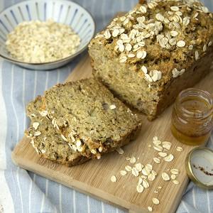 Honey Oat Banana Bread | Om Nom Ally