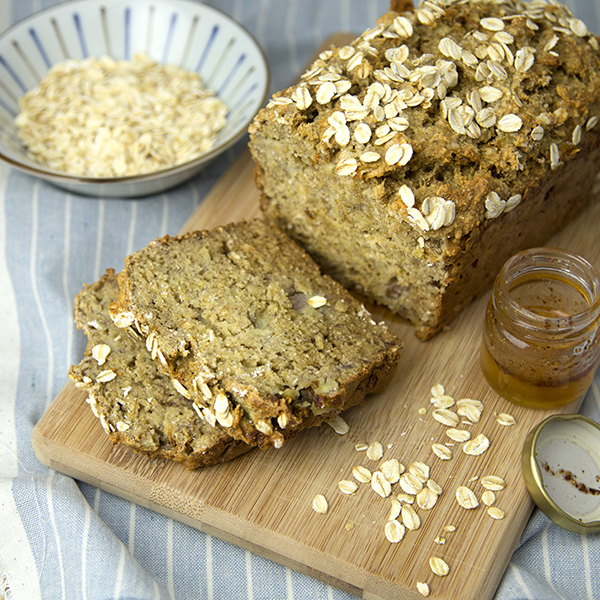 Honey Oat Banana Bread | Om Nom Ally