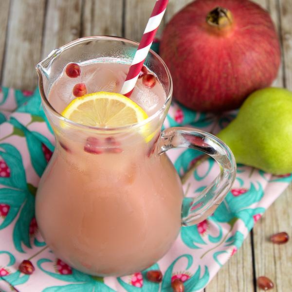 Pomegranate & Pear Kefir Spritzer @OmNomAlly