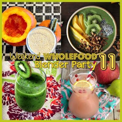 Weekend Wholefood Blender Party (11) + Pomegranate & Pear Kefir Spritzer