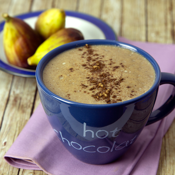 Figgy Raw Hot Chocolate in the Blender | Om Nom Ally