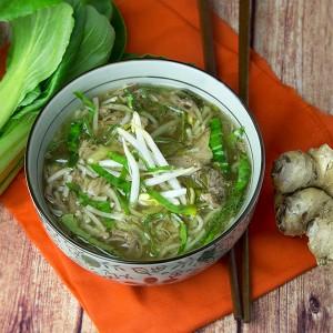 Slow Cooker Pork & Noodle Soup - Om Nom Ally