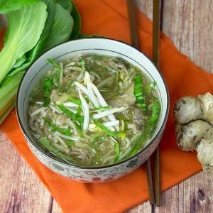 Slow Cooker Pork & Noodle Soup | Om Nom Ally