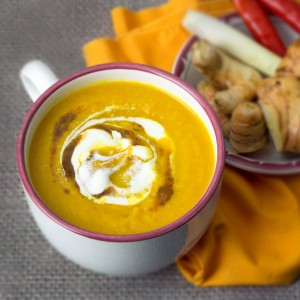Anti-inflammatory Carrot & Three Ginger Soup | Om Nom Ally