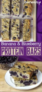 Banana & Blueberry Protein Bars @OmNomAlly