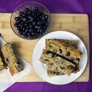 Banana & Blueberry Protein Bars | Om Nom Ally