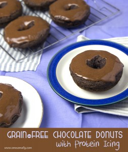 Grain-free Chocolate Donuts with Protein Icing | Om Nom Ally