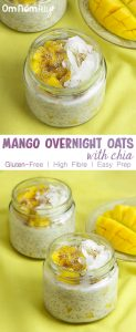 Mango Overnight Oats with Chia @OmNomAlly