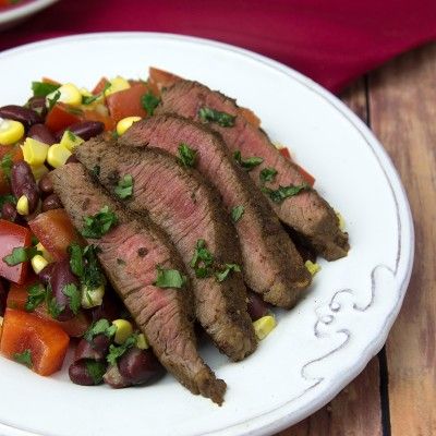 Mexican Chilli-Rubbed Steak with Corn Salsa