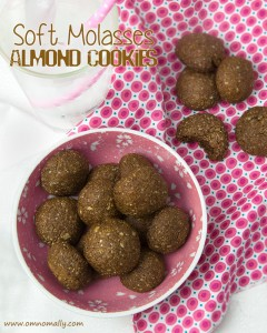 Soft Molasses Almond Cookies | Om Nom Ally