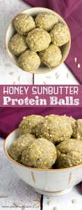 Honey Sunbutter Protein Balls @OmNomAlly