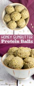 Honey Sunbutter Protein Balls @OmNomAlly
