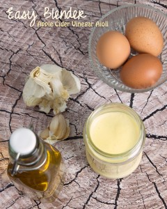 Blender Apple Cider Vinegar Aioli @OmNomAlly