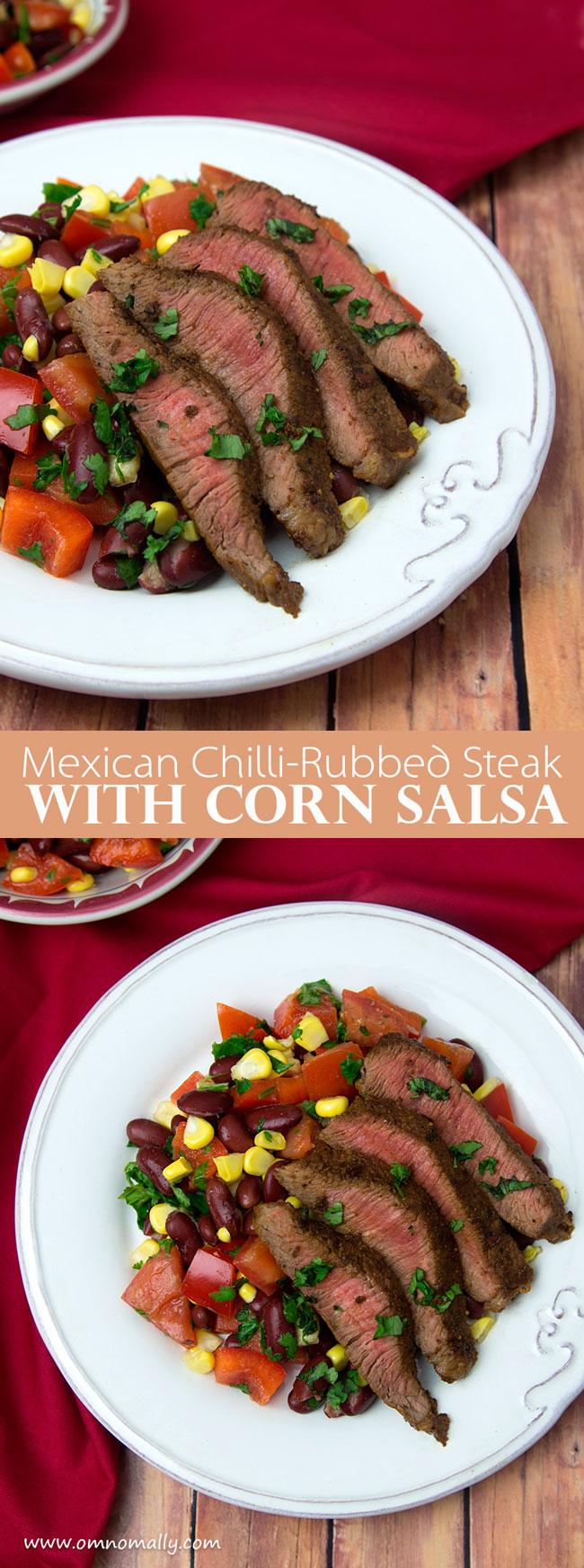 Mexican Chilli-Rubbed Steak with Corn Salsa @ OmNomAlly