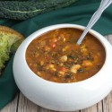 Recipe Redux: Roasted Capsicum Soup with Kale, Barley & White Beans