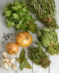 Immune Boosting Garden Herb Stock @OmNomAlly