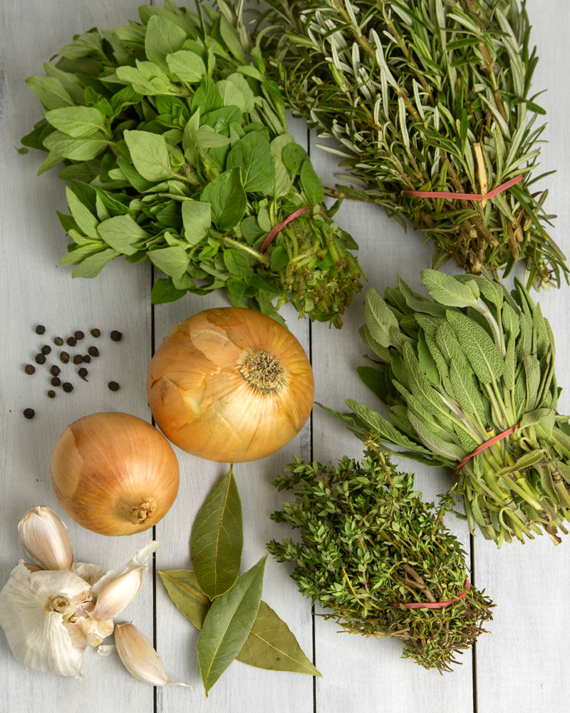 Immune Boosting Garden Herb Stock @OmNomAlly