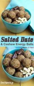 Salted Date and Cashew Energy Balls @OmNomAlly #thereciperedux