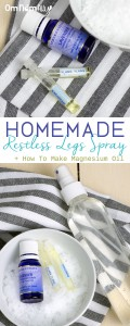 Homemade Restless Leg Spray + How to Make Magnesium Oil @OmNomAlly