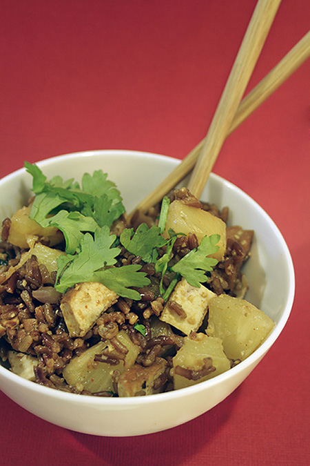 Bhutanese Pineapple Rice with Tofu