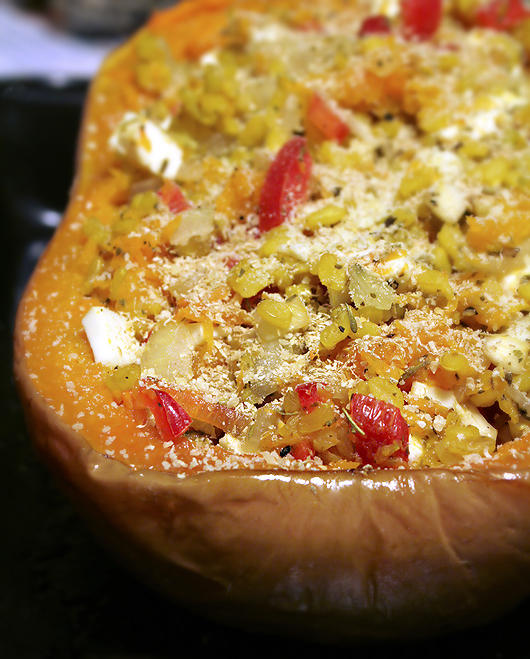 Brown Rice Stuffed Pumpkin