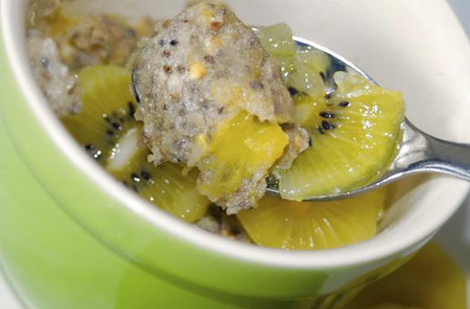 Golden Kiwi Quinoa Bake
