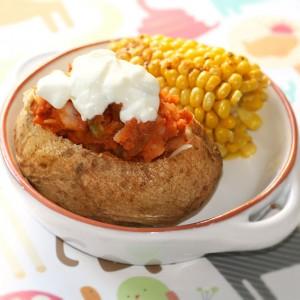 Chilli Stuffed Baked Potato