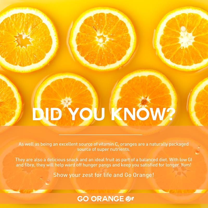 Go Orange_Healthy snack on the go