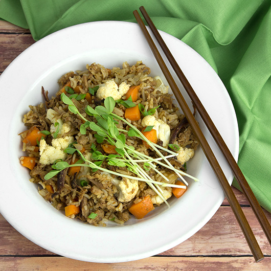 Spicy Plum Pork Fried Rice